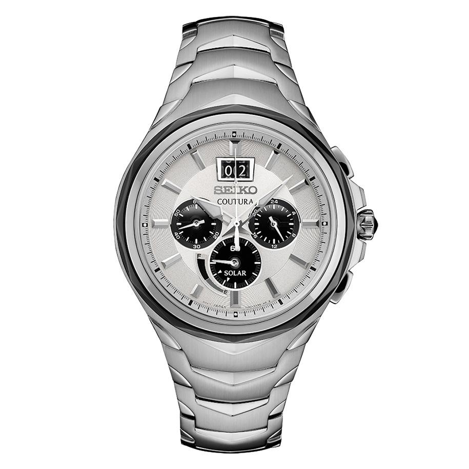 นาฬิกาผู้ชาย Seiko รุ่น SSC627, Coutura Solar Chronograph Stainless Steel