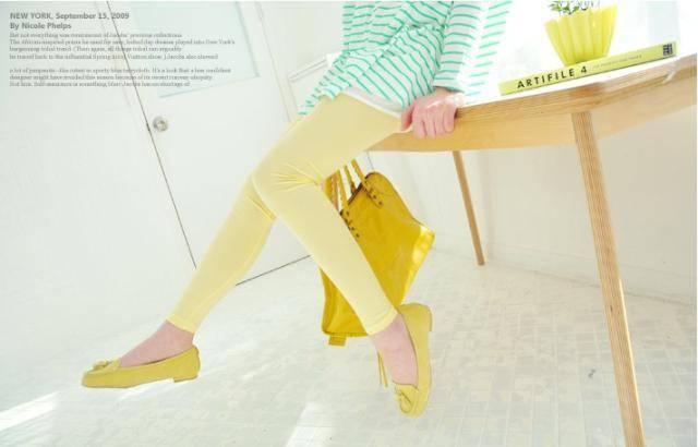 เลคกิ้งคนท้อง ขายาว สีเหลือง M , L ,XL