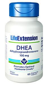 Life Extension DHEA (Dehydroepiandrosterone) 100 mg 60 Veggie Caps