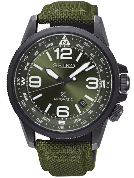 นาฬิกาผู้ชาย Seiko รุ่น SRPC33J1, Prospex Land Automatic Green Made In Japan Men's Watch