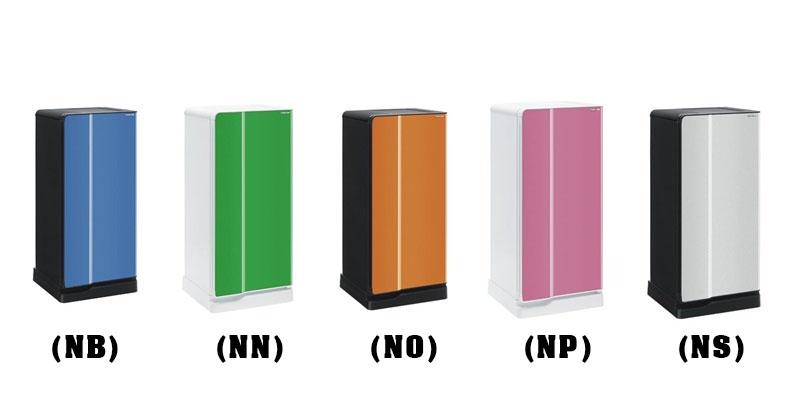 ตู้เย็น1D 5.2Q TOSHIBA GR-B145Z (สี ฟ้า เงิน ชมพู เขียว)
