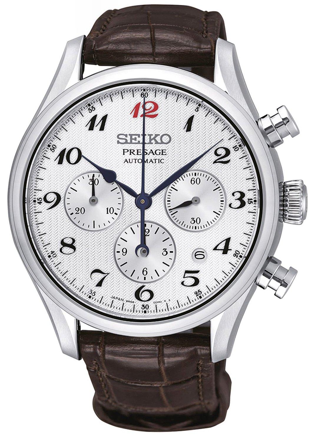 นาฬิกาผู้ชาย Seiko รุ่น SRQ025J1, PRESAGE Cocktail Automatic Multi-Dial Chronograph Men's Watch
