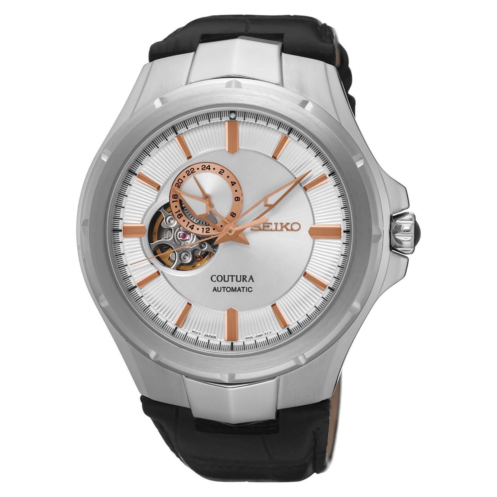 นาฬิกาผู้ชาย Seiko รุ่น SSA313, Coutura Automatic Leather Strap Stainless Steel