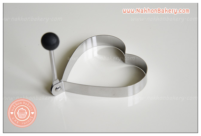 พิมพ์ทอดไข่ดาวแฟนซี รูปหัวใจ