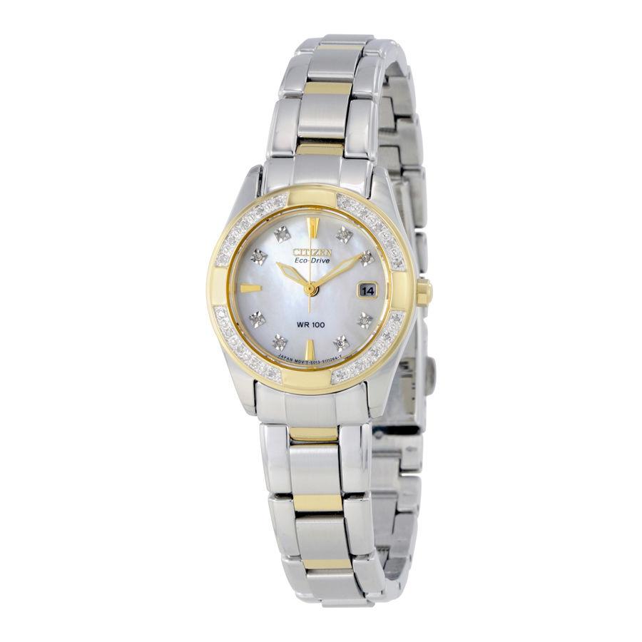 นาฬิกาผู้หญิง Citizen Eco-Drive รุ่น EW1824-57D, Regent Diamond Mother-of-Pearl