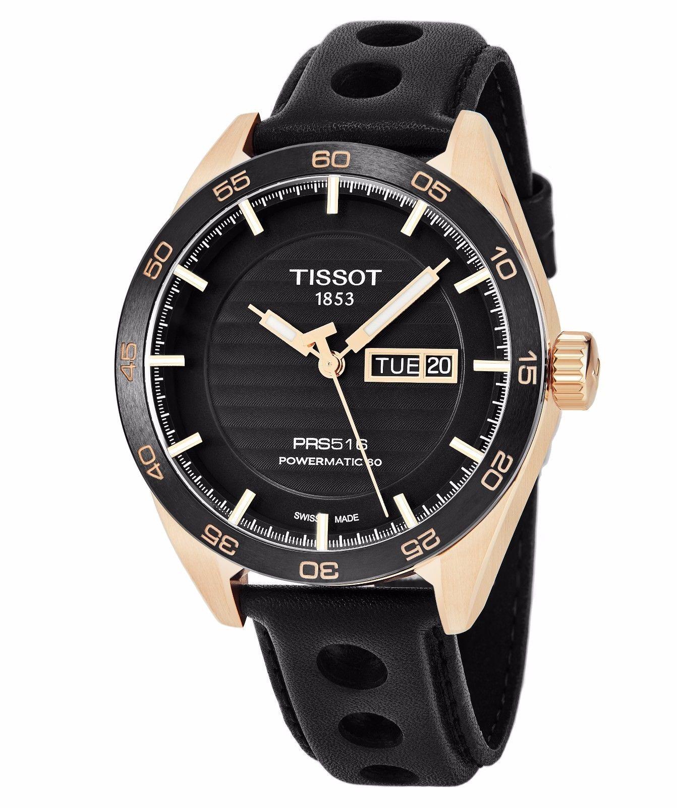 นาฬิกาผู้ชาย Tissot รุ่น T1004303605100, PRS 516 Powermatic 80