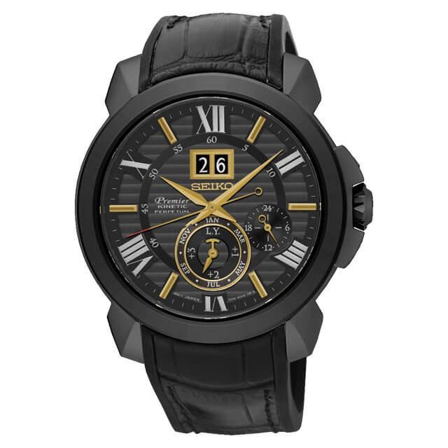 นาฬิกาผู้ชาย Seiko รุ่น SNP145P1, Premier Kinetic Perpetual Calendar
