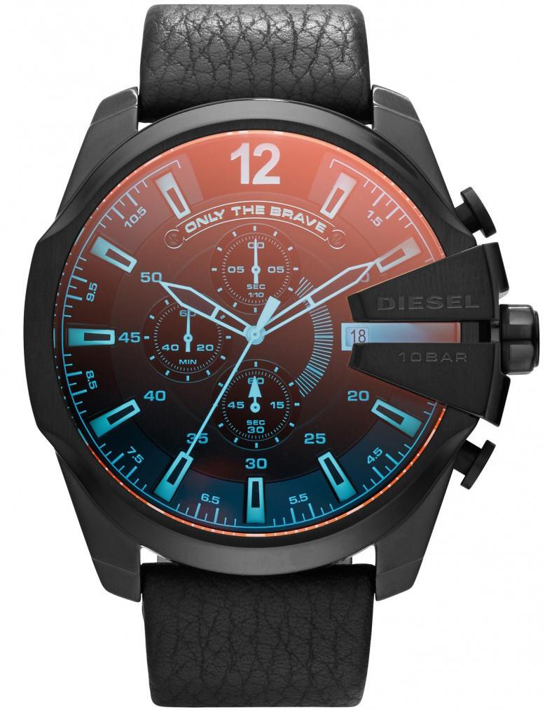 นาฬิกาผู้ชาย Diesel รุ่น DZ4323, Mega Chief Chronograph Black Dial