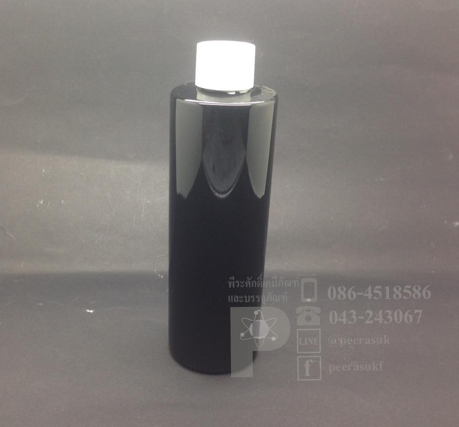 SA250 ml สีดำ+จุกรู+ฝาเกลียวสีขาวทึบ แพคละ 10 ชิ้น