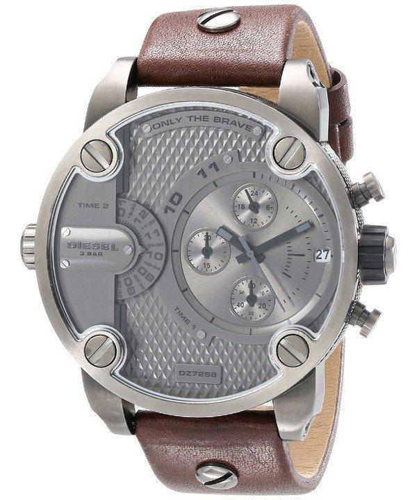 นาฬิกาผู้ชาย Diesel รุ่น DZ7258, Little Daddy Chronograph Dual Time Grey Dial