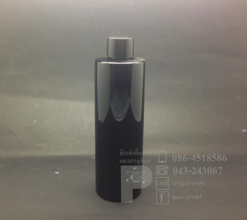 SA250 ml สีดำ+จุกรู+ฝาเกลียวดำ แพคละ 10 ชิ้น