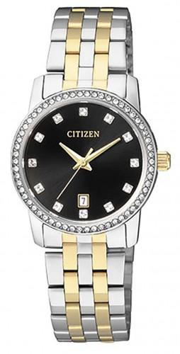 นาฬิกาผู้หญิง Citizen รุ่น EU6034-55E, Swarovski Dual Tone