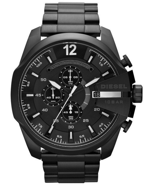 นาฬิกาผู้ชาย Diesel รุ่น DZ4283, Mega Chief Chronograph Black IP Quartz Men's Watch