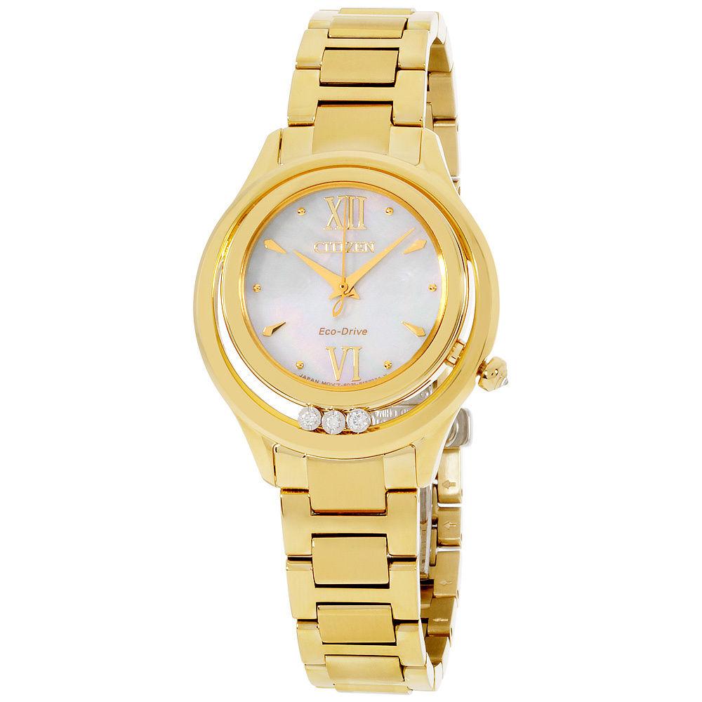 นาฬิกาผู้หญิง Citizen Eco-Drive รุ่น EM0512-58D, L Sunrise LS Mother of pearl Dial