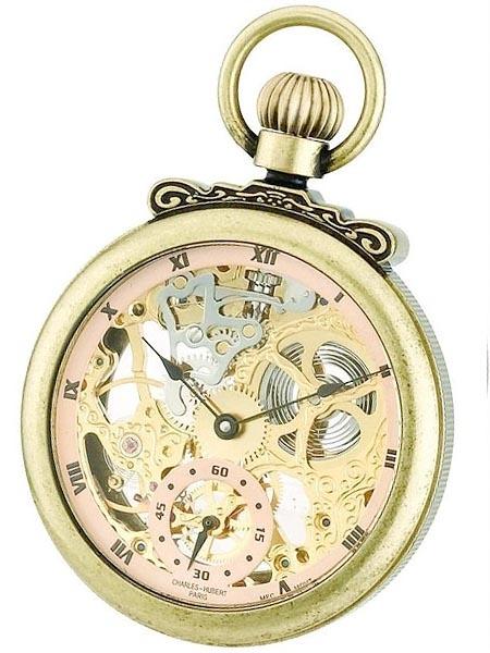 นาฬิกาพกพา Charles-Hubert รุ่น 3869G, Mechanical Gold Tone