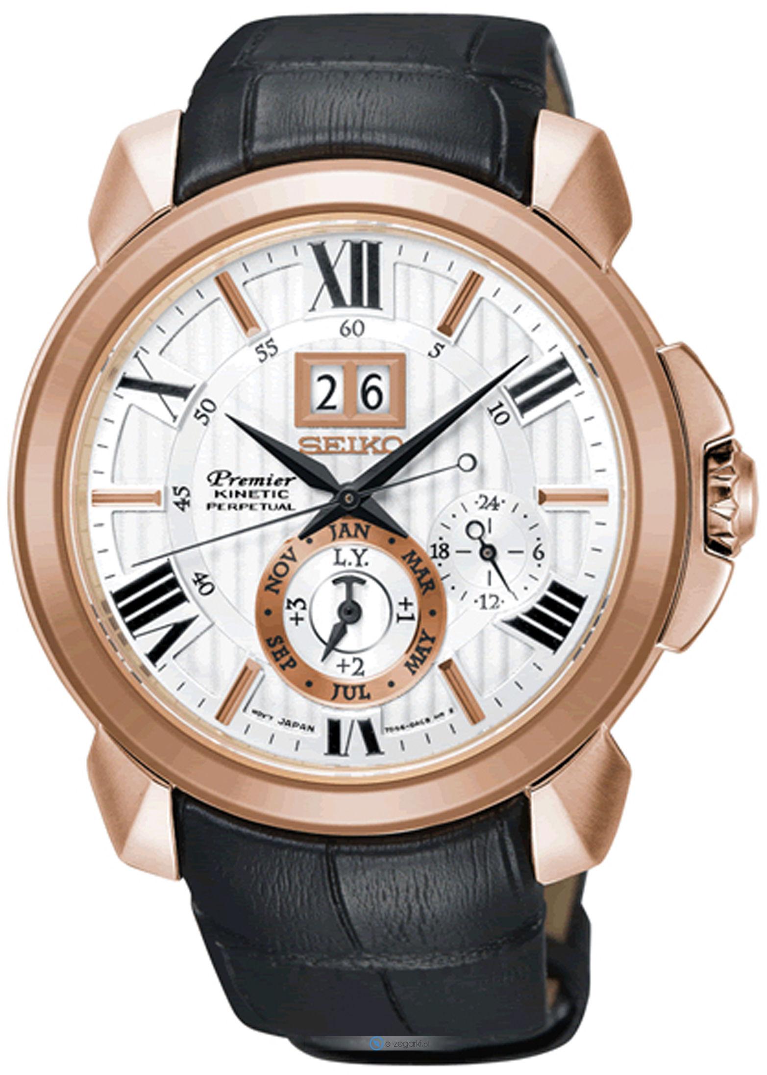 นาฬิกาผู้ชาย Seiko รุ่น SNP150P1, Premier Kinetic Perpetual