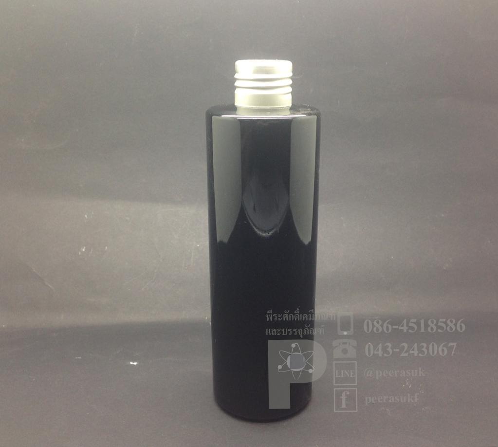 SA250 ml สีดำ+จุกตัน+ฝาเกลียวสีเงิน แพคละ 10 ชิ้น