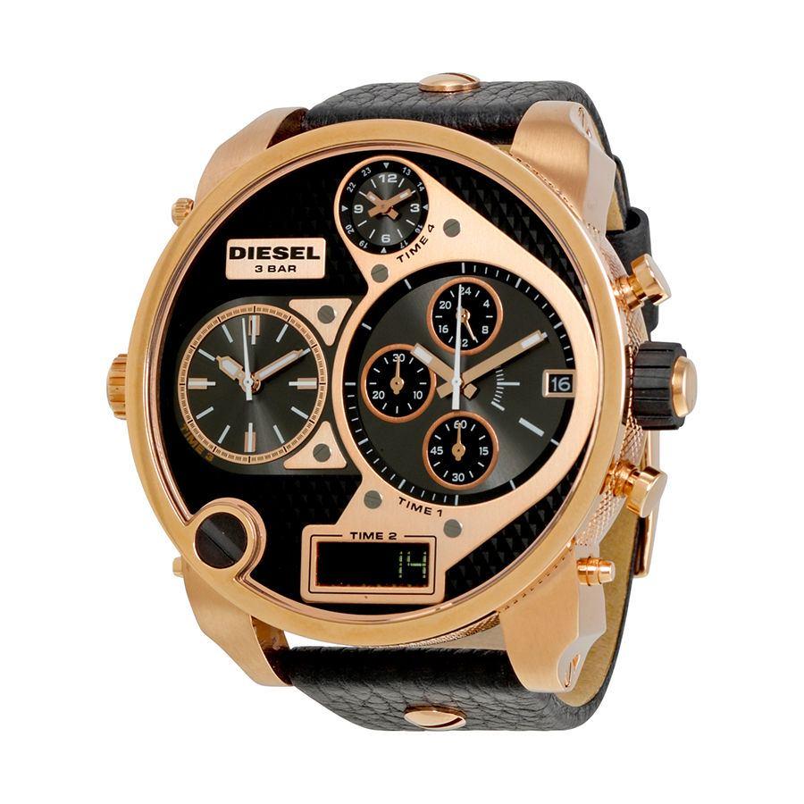 นาฬิกาผู้ชาย Diesel รุ่น DZ7261, My Daddy Four Time Zone Leather Men's Watch