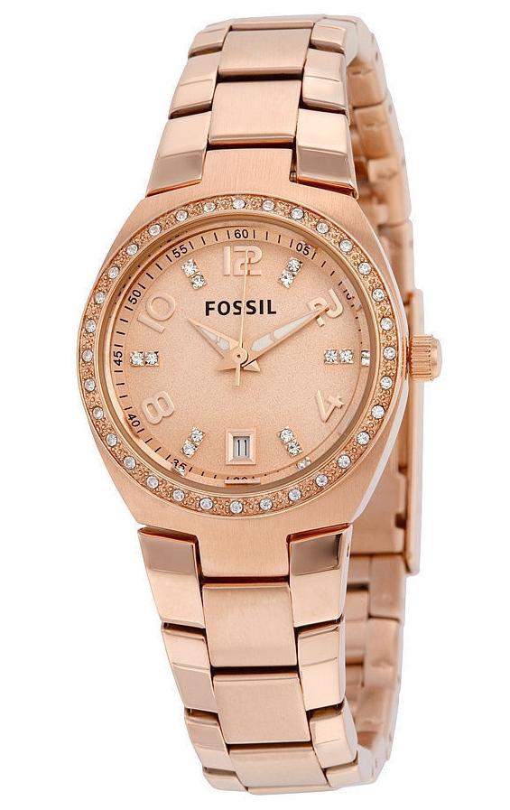นาฬิกาผู้หญิง Fossil รุ่น AM4508, Serena Crystals Rose Gold-Tone Stainless Women's Watch