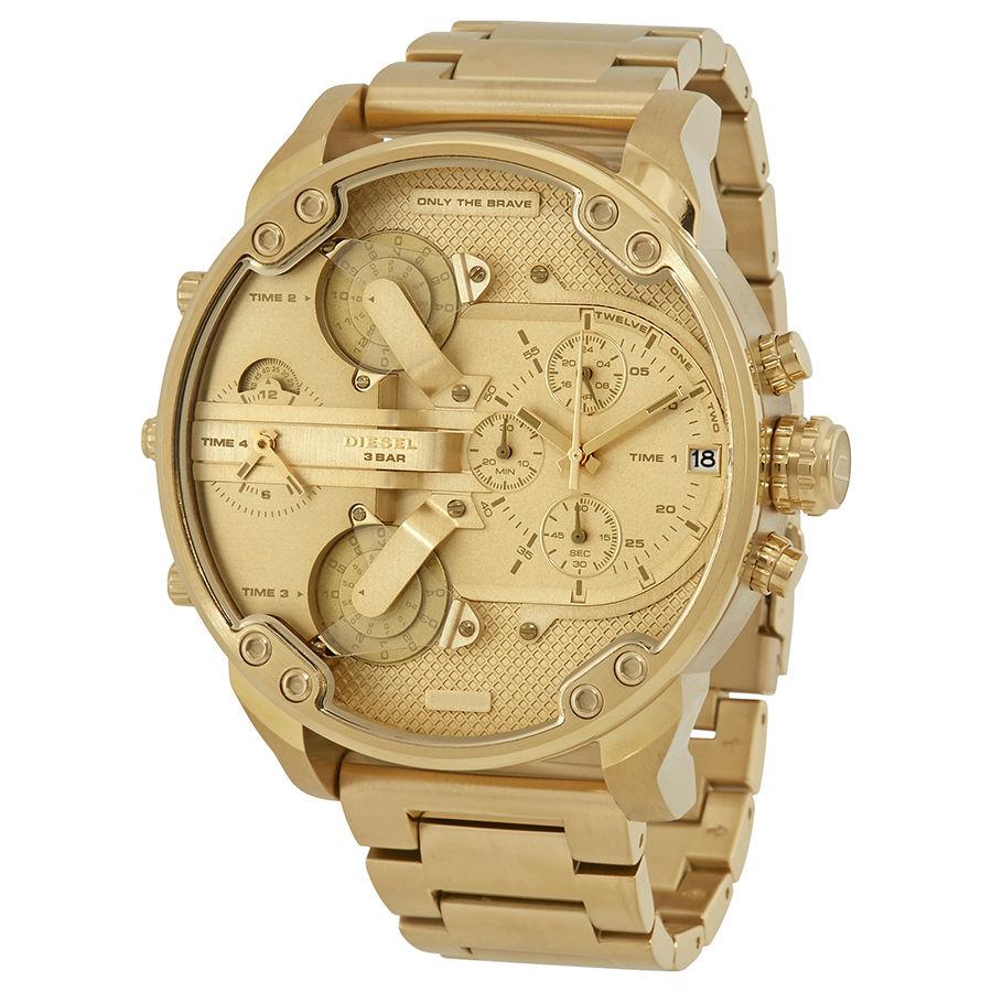 นาฬิกาผู้ชาย Diesel รุ่น DZ7399, Mr. Daddy 2.0 Chronograph Gold Tone
