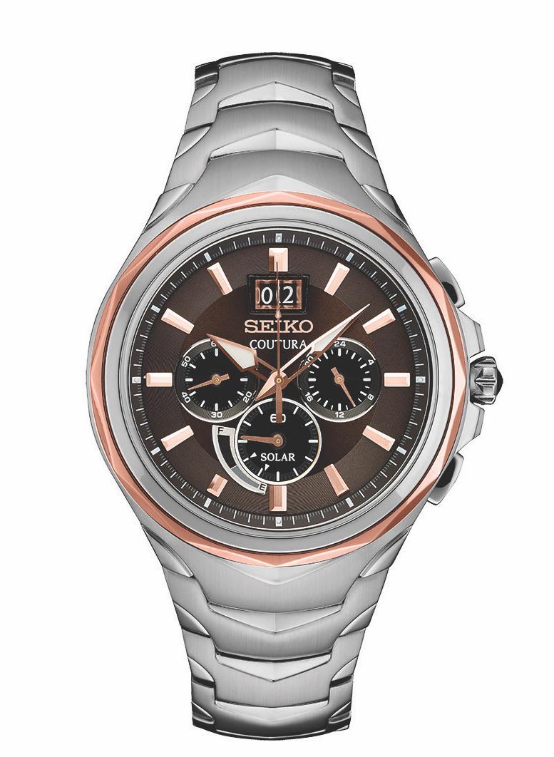 นาฬิกาผู้ชาย Seiko รุ่น SSC628, Coutura Solar Chronograph Stainless Steel