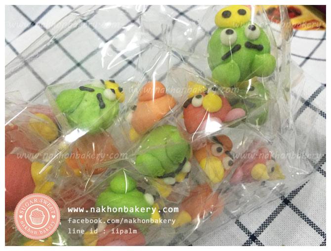 ตุ๊กตาไอซิ่ง แองกี้เบิร์ด angry birds ตุ๊กตาน้ำตาลไอซิ่ง icing (3ซม)
