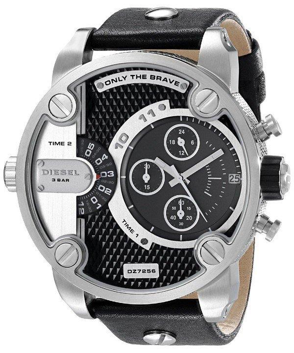 นาฬิกาผู้ชาย Diesel รุ่น DZ7256, Little Daddy Chronograph Dual Time Black Dial