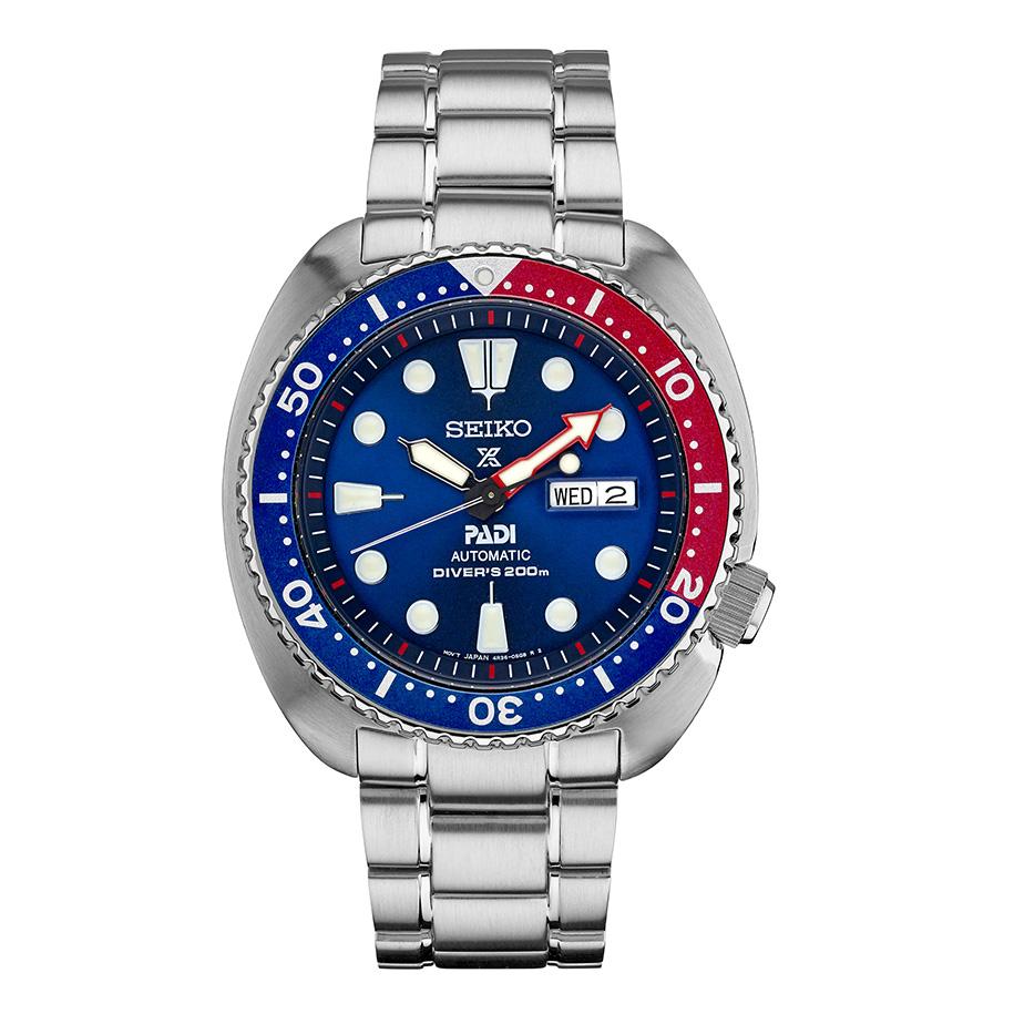 นาฬิกาผู้ชาย Seiko รุ่น SRPA21, Seiko Padi Automatic Prospex Pepsi Turtle Divers 200M