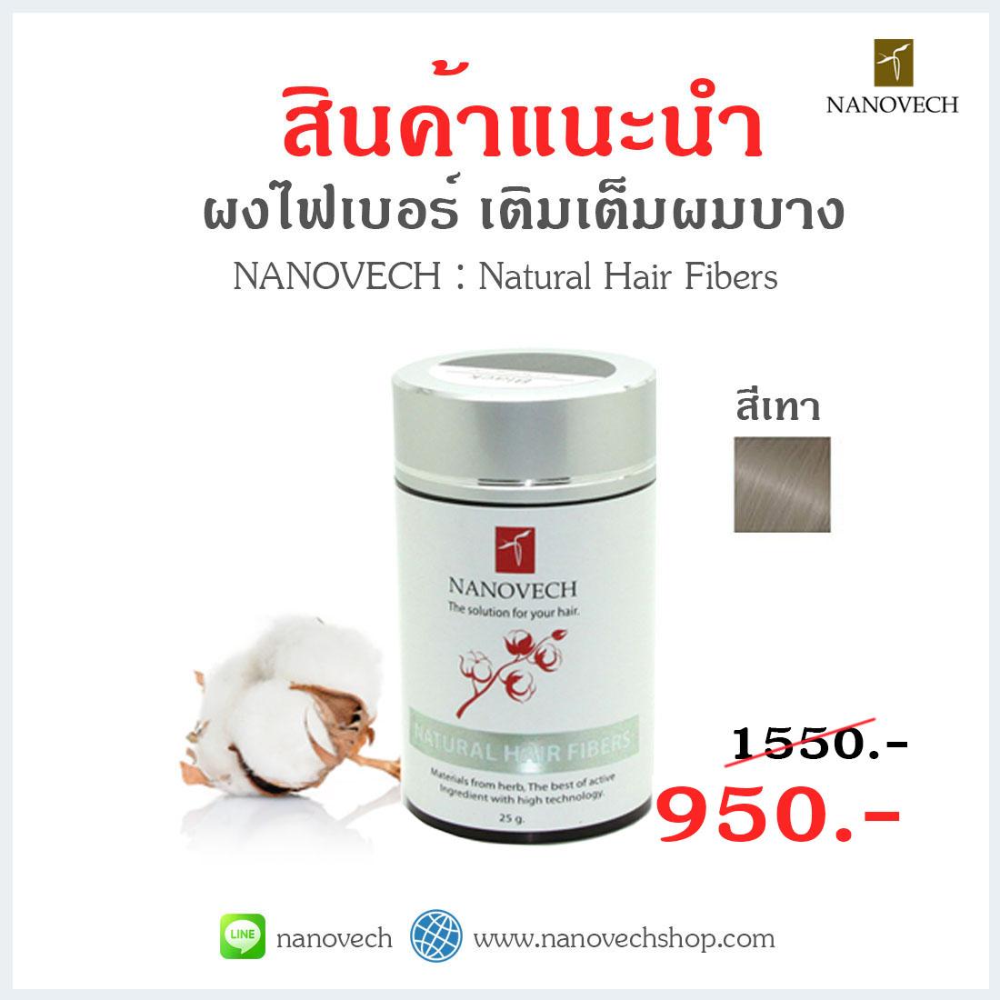 Nanovech : Natural Hair Fibers (สีเทา)
