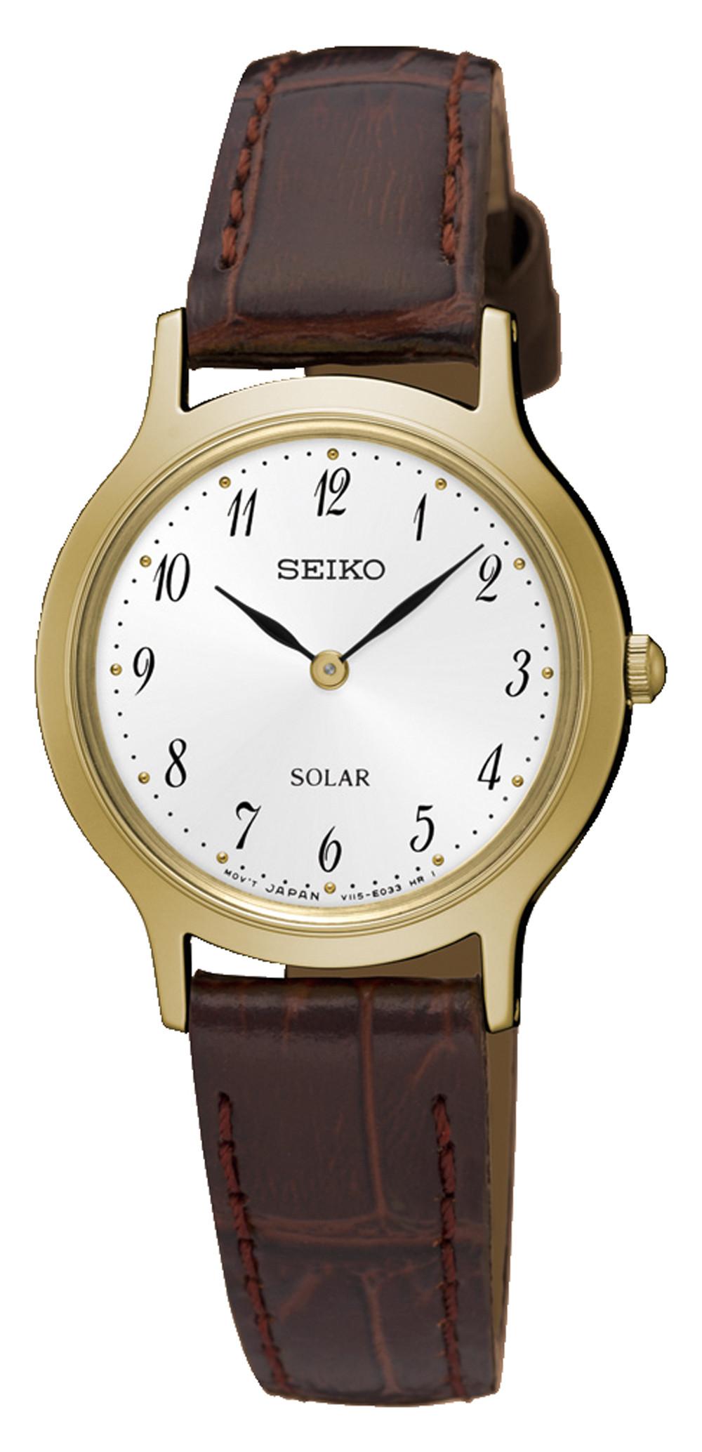 นาฬิกาผู้หญิง Seiko รุ่น SUP370P1, Solar