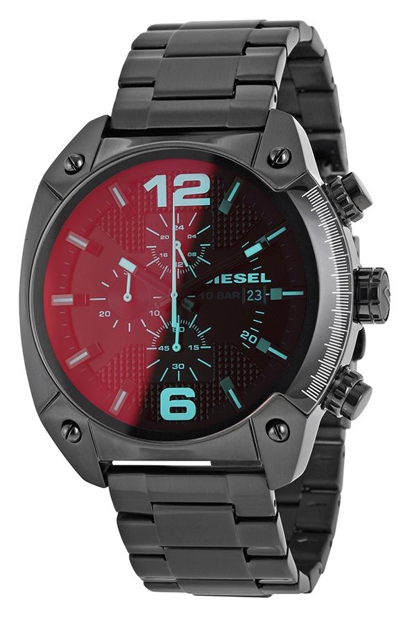 นาฬิกาผู้ชาย Diesel รุ่น DZ4316, Overflow Chronograph Black Dial Black Ion-plated