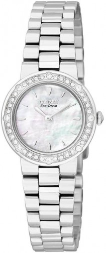 นาฬิกาข้อมือผู้หญิง Citizen Eco-Drive รุ่น EW9820-54D, Mother Of Pearl Dial Swarovski Crystal Elegant