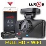กล้องติดรถยนต์ Lukas LK-7950 Dash Cam 2CH +GPS + SONY senser + WIFI