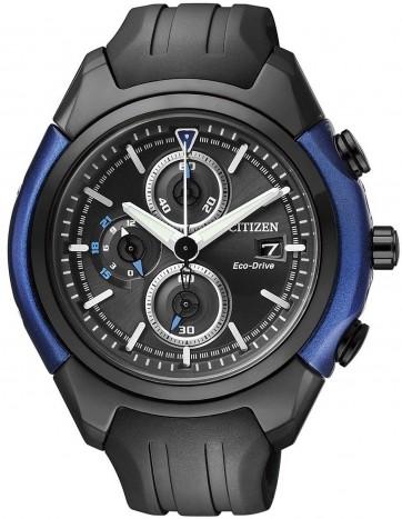 นาฬิกาข้อมือผู้ชาย Citizen Eco-Drive รุ่น CA0288-02E, Black And Blue HSTech Chronograph