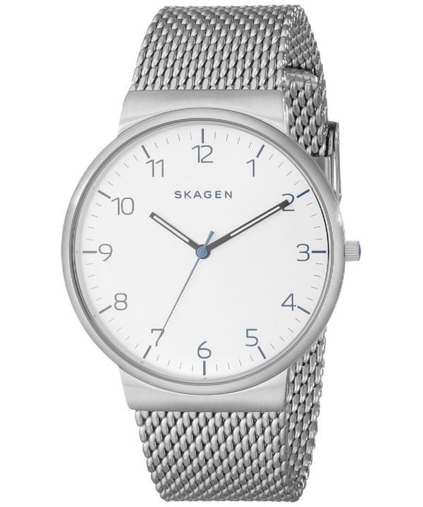 นาฬิกาผู้ชาย Skagen Ancher Quartz Silver Dial รุ่น SKW6163