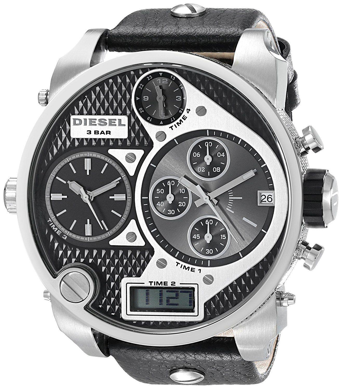 นาฬิกาผู้ชาย Diesel รุ่น DZ7125, Mr.Daddy Chronograph Black Leather Men's Watch