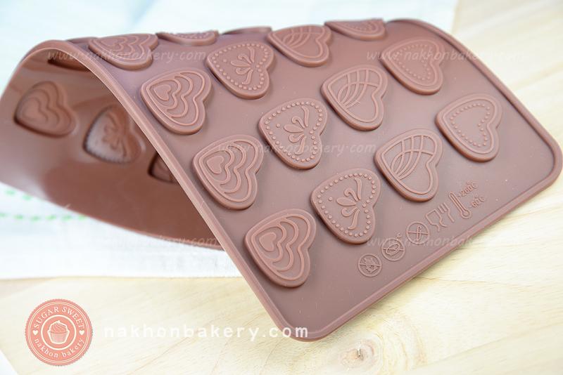 พิมพ์ซิลิโคน ช็อคโกแลต/วุ้น รูปหัวใจ