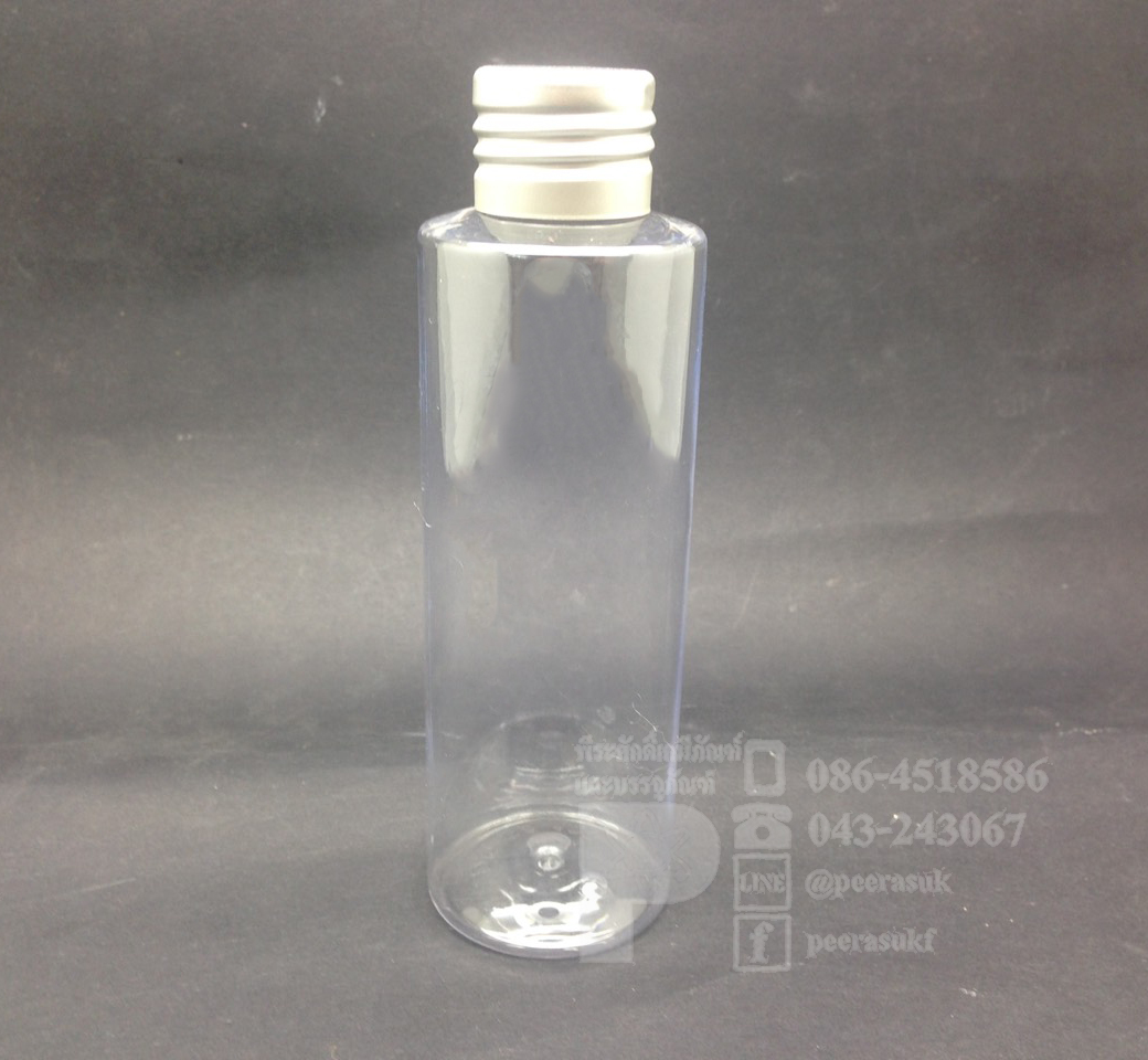 ขวด SA 120 ml ใส+จุกตัน+ฝาเกลียวสีเงิน แพคละ 10 ชิ้น