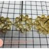 พิมพ์ดอกจอก ทองเหลือง ขนาด 8 ซม
