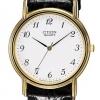 นาฬิกาข้อมือผู้ชาย Citizen รุ่น AM2412-00A, Quartz Elegant Black Leather
