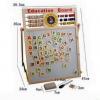กระดาน 2 หน้า ไวท์บอร์ด/ดำ สอนเลข ภาษา เรียนรู้ได้หลากหลายอย่าง