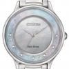 นาฬิกาข้อมือผู้หญิง Citizen Eco-Drive รุ่น EM0380-65D, L Circle Of Time Diamond Sapphire
