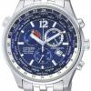 นาฬิกาข้อมือผู้ชาย Citizen Eco-Drive รุ่น AT0360-50L, Sapphire Chrono World Time
