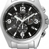 นาฬิกาข้อมือผู้ชาย Citizen Eco-Drive รุ่น AS4030-59E, Promaster Euro Radio Controlled Chrono Titanium Sapphire Watch