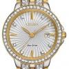 นาฬิกาผู้หญิง Citizen Eco-Drive รุ่น EW2344-57A, Silhouette Crystal Swarovski