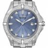นาฬิกาข้อมือผู้หญิง Citizen Eco-Drive รุ่น EW1920-53L, Blue Dial Diamond Elegant Watch