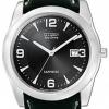 นาฬิกาผู้ชาย Citizen Eco-Drive รุ่น BM6521-13F, Black Leather Sapphire Elegant