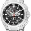 นาฬิกาข้อมือผู้ชาย Citizen Eco-Drive รุ่น AT2021-54E, Super Titanium 100m Sapphire Chronograph