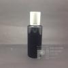 ขวด SA 100 ml สีดำ+จุกตัน+ฝาเกลียวอลูสีเงินลาย แพคละ 10 ชิ้น