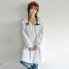 ((พร้อมส่ง)) เสื้อผ้าแฟชั่นผู้หญิง : เดรสสีขาวแฟชั่น กระโปรงพริ้วๆ น่ารัก น่ารักจ้า